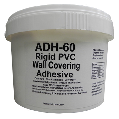 Rigid PVC Wall Covering Adhesive, Protect-a-Wall